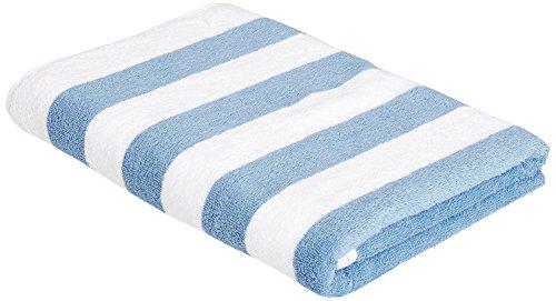 Toalla de rayas azul y blanco