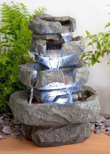 Los mejores mini jard n zen y cascada con luz for Cascadas jardin zen