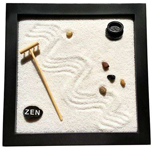Mini jardín zen cuadrado