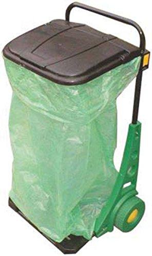 Cubo de basura con ruedas recoge-hojas