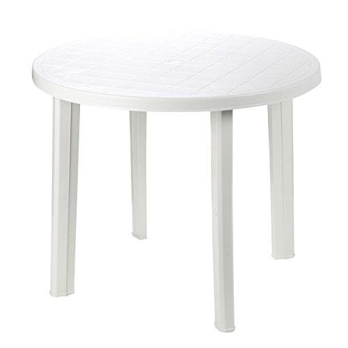 Mesa resina blanca diámetro 90 cm