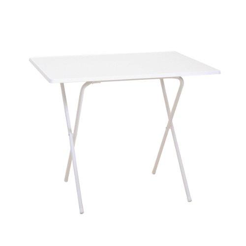 Mesa plegable, color blanco